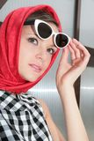 Young woman with sunglasses in image 50-h Stock Photos