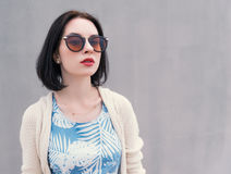 Young woman in a sunglasses. Royalty Free Stock Photos