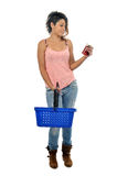 Young woman in super market Stock Image