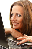 Young woman surfing on the Internet Stock Photo