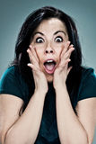 Young Woman with Surprise Expression Stock Image