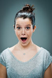 Young Woman with Surprise Expression Royalty Free Stock Photography