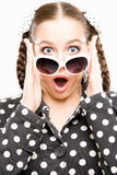 Young woman surprised Stock Image