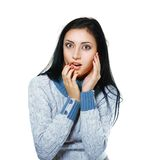 Young woman surprised Royalty Free Stock Image