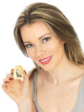 Young Woman With Sushi Stock Image