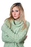 Young woman in sweater Royalty Free Stock Photos