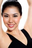Young woman with sweet smile Stock Photos
