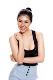 Young woman with sweet smile Royalty Free Stock Image