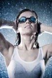 Young woman swimmer Royalty Free Stock Image