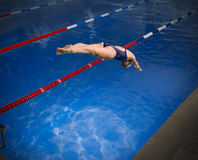 Young woman swimmer Royalty Free Stock Photos