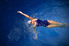 Young woman swimmer Stock Photos