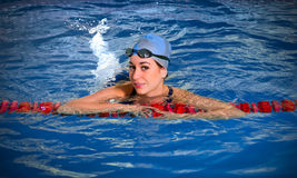 Young woman swimmer Royalty Free Stock Photography
