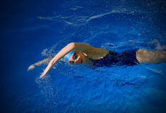 Young woman swimmer Stock Image