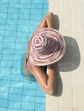Young woman in a swimming pool Royalty Free Stock Photography
