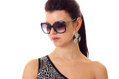 Young woman in swimming suit with sunglasses Stock Photo