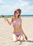 Young woman in swimsuit Royalty Free Stock Photos