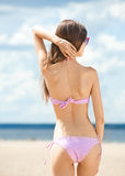 Young woman in swimsuit Stock Photography