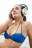 Young woman in swimsuit royalty free stock images