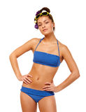 Young Woman In Swimsuit Royalty Free Stock Photo