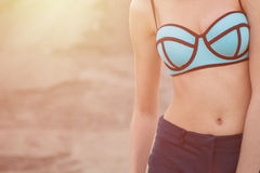 Young woman in swimsuit Stock Photo