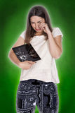 Young woman tablet Stock Photography