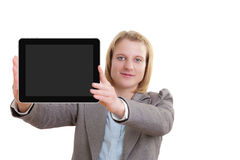 Young woman with tablet pc Stock Photography
