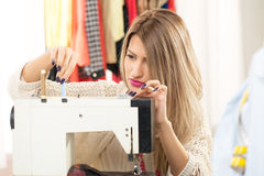 Young Woman Tailor Royalty Free Stock Image