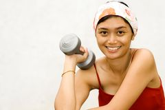 Young Woman Take A Break In Fitness Royalty Free Stock Image