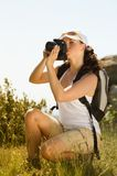 Young woman take photography Royalty Free Stock Image