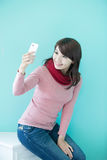 Young woman take a selfie Stock Photography