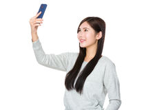 Young woman take selfie Royalty Free Stock Photography