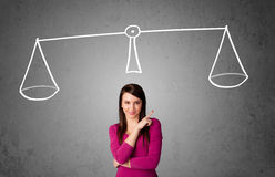 Young woman taking a decision Stock Image