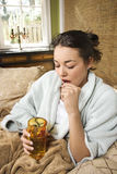 Young Woman Taking Medication Stock Image