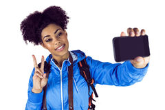 Young woman taking a selfie Stock Photos