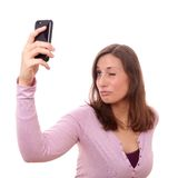 Young woman taking selfie Royalty Free Stock Photography