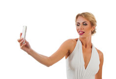Young woman taking selfie Royalty Free Stock Photos