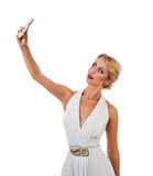 Young woman taking selfie Stock Photography