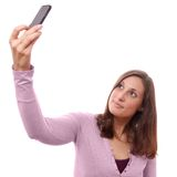 Young woman taking selfie Royalty Free Stock Image