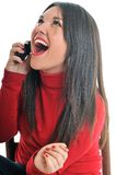 Young woman talk on cellphone Royalty Free Stock Image
