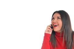 Young woman talk on cellphone Stock Photos