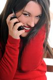 Young woman talk on cellphone Royalty Free Stock Images