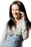 Young woman talking on the cell-phone Stock Photo