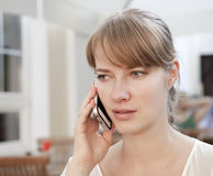 Young Woman Talking On Cell Phone Stock Photography