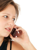 Young woman talking on her mobile phone Royalty Free Stock Photography