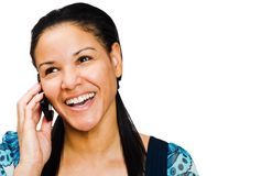 Young woman talking on mobile Stock Photos