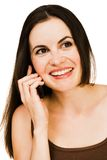 Young woman talking on mobile Royalty Free Stock Images