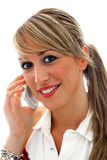 Young woman talking with mobile phone Stock Photos