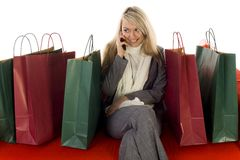 Young woman talking on a mobile phone Royalty Free Stock Photo