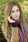 Young Woman Talking On The Phone Stock Photos
