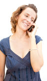 Young woman talking by phone Stock Photo